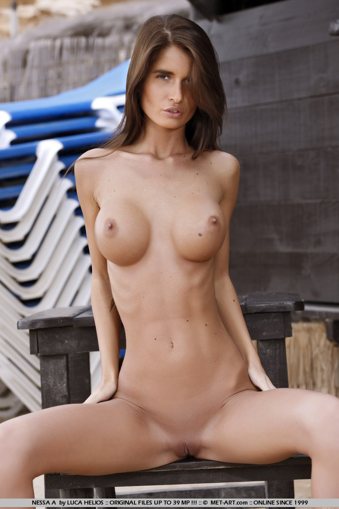 Nude thin huge boobs