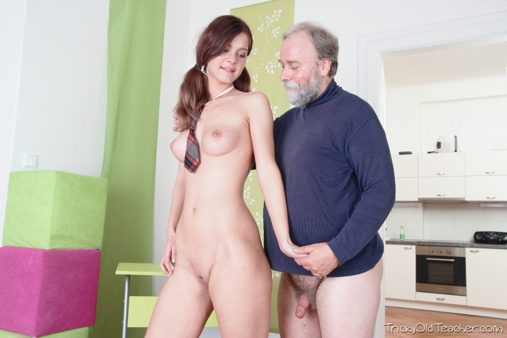 Tricky old teacher cutie uses tongue to get education 5