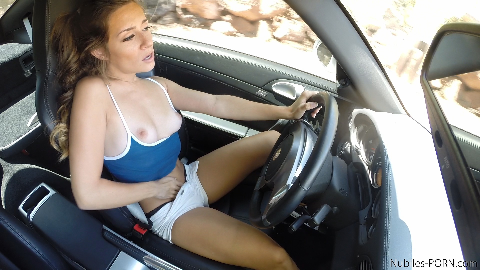 Mom Gives Son Blowjob Car