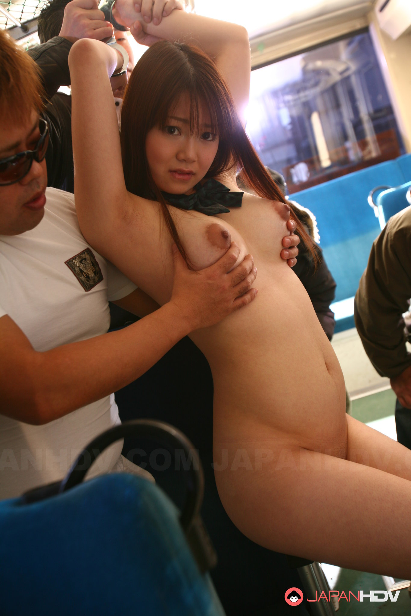 Asian girl gets groped