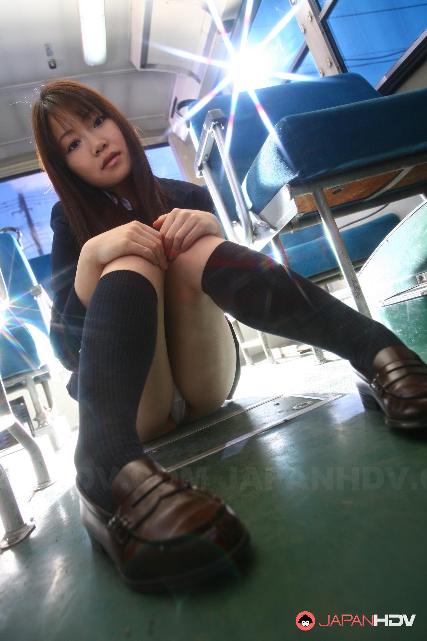 Japanese schoolgirl bus